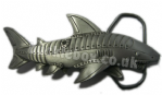 3D Cyborg Shark Belt Buckle + display stand. Code KF4